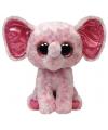Knuffel olifant roze van Ty Beanie 24 cm